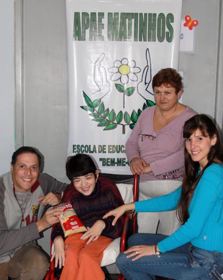 Geara, Tatiana, Dona Margarete e a Diretora Érica Andrade