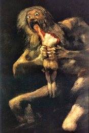 Cronos dévorant un de ses enfants, par Francisco Goya.