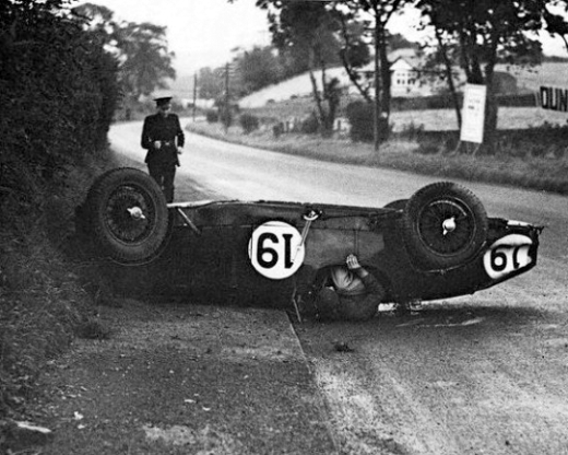 Man in Racecar Accident