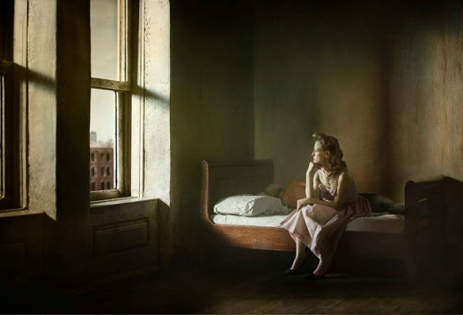 Richard Tuschman _Hopper_Meditations_Woman_and_Man_on_a_Bed_20_x_29_in (1)