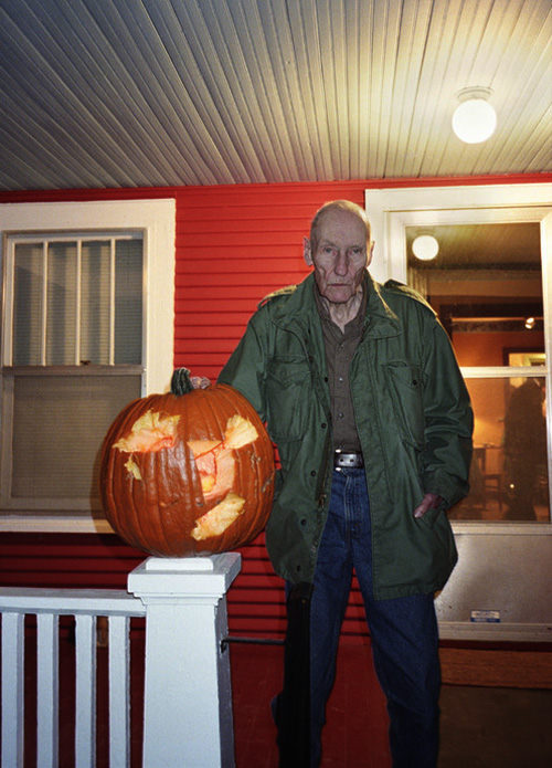 William Burroughs and pumpkin